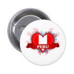 Vintage I Love Peru Pinback Button