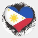 Vintage I Love Philippines Classic Round Sticker