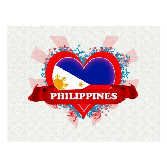 Vintage I Love Philippines Postcard