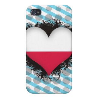 Vintage I Love Poland Cases For iPhone 4