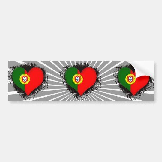 Vintage I Love Portugal Bumper Sticker