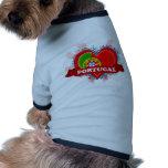 Vintage I Love Portugal Dog T Shirt