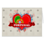 Vintage I Love Portugal Greeting Card