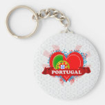 Vintage I Love Portugal Keychain