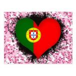 Vintage I Love Portugal Postcard