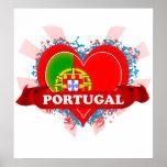 Vintage I Love Portugal Poster