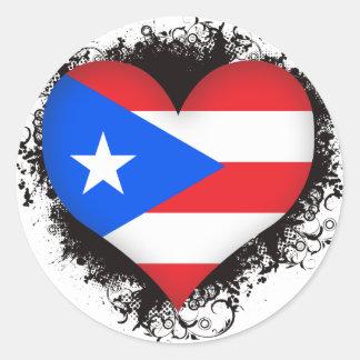 Vintage I Love Puerto Rico Classic Round Sticker