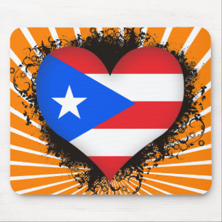Vintage I Love Puerto Rico Mouse Pad