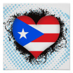 Vintage I Love Puerto Rico Poster
