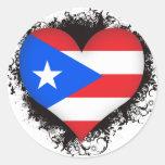 Vintage I Love Puerto Rico Stickers