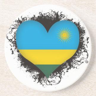 Vintage I Love Rwanda Drink Coasters