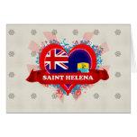 Vintage I Love Saint Helena Greeting Card
