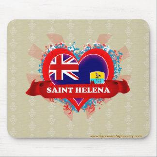 Vintage I Love Saint Helena Mouse Pad