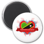 Vintage I Love Saint Kitts And Nevis 2 Inch Round Magnet