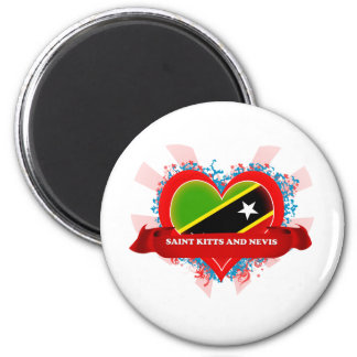 Vintage I Love Saint Kitts And Nevis Magnet
