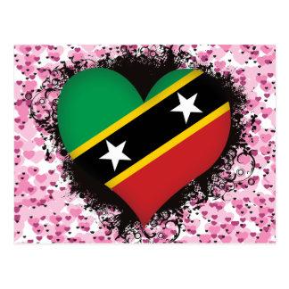 Vintage I Love Saint Kitts and Nevis Postcards
