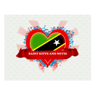 Vintage I Love Saint Kitts And Nevis Post Cards