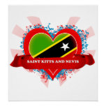 Vintage I Love Saint Kitts And Nevis Poster