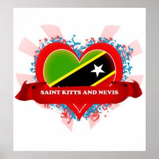Vintage I Love Saint Kitts And Nevis Poster