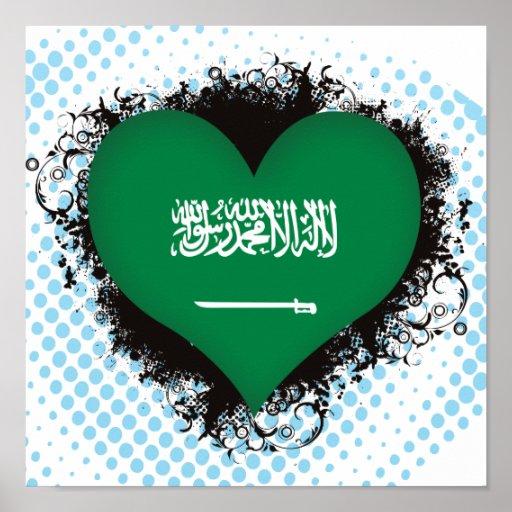 Vintage I Love Saudi Arabia Poster
