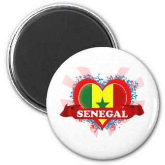 Vintage I Love Senegal Magnet