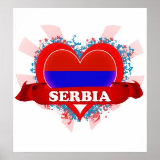 Vintage I Love Serbia Posters