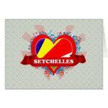 Vintage I Love Seychelles Card