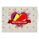 Vintage I Love Seychelles Greeting Cards