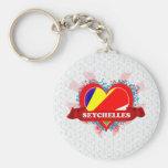 Vintage I Love Seychelles Keychains