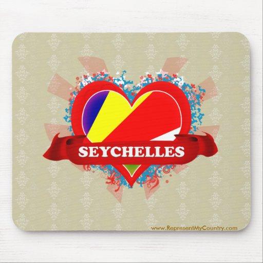 Vintage I Love Seychelles Mousepad