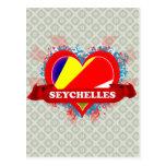 Vintage I Love Seychelles Post Cards