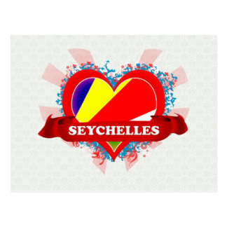 Vintage I Love Seychelles Postcard