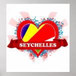 Vintage I Love Seychelles Print