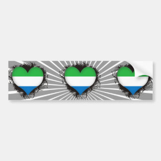Vintage I Love Sierra Leone Car Bumper Sticker
