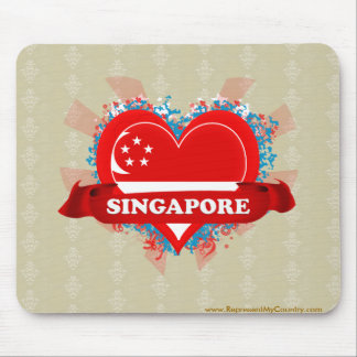 Vintage I Love Singapore Mouse Pad