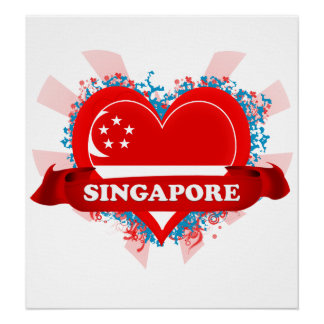 Vintage I Love Singapore Posters