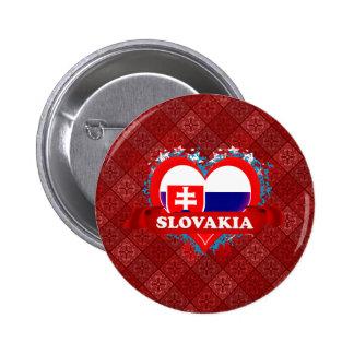 Vintage I Love Slovakia Pins