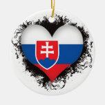 Vintage I Love Slovakia Christmas Ornaments