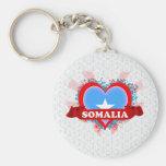 Vintage I Love Somalia Basic Round Button Keychain