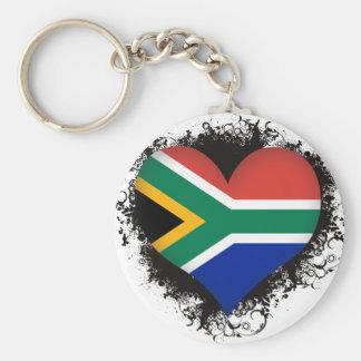 Vintage I Love South Africa Basic Round Button Keychain