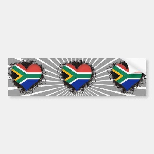 Vintage I Love South Africa Car Bumper Sticker