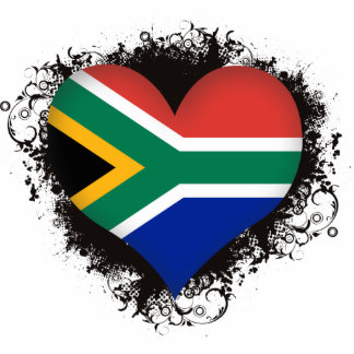 Vintage I Love South Africa Cutout