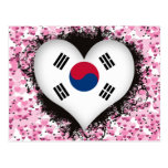 Vintage I Love South Korea Postcard