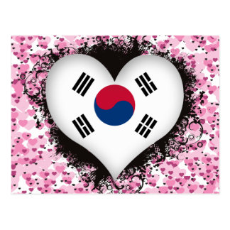 Vintage I Love South Korea Postcard