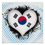 Vintage I Love South Korea Poster