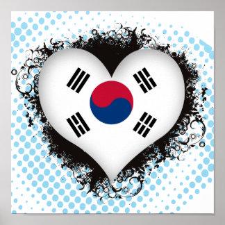 Vintage I Love South Korea Poster
