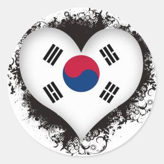Vintage I Love South Korea Sticker