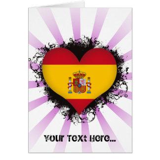 Vintage I Love Spain Card