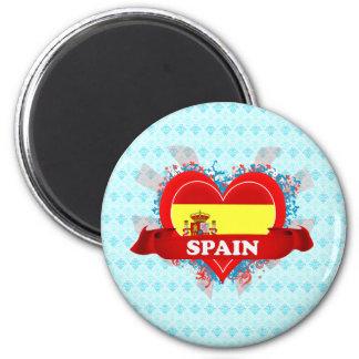 Vintage I Love Spain Magnet