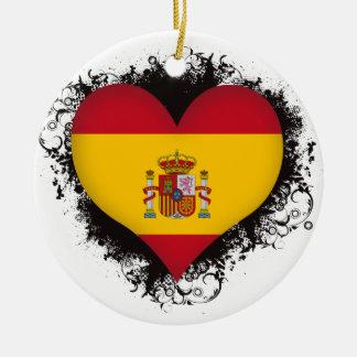 Vintage I Love Spain Christmas Tree Ornament